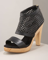Perforated Platform Sandal