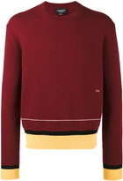 Calvin Klein Collection Stripe 205 knitted jumper - men - Acrylic/Cashmere/Wool - S
