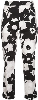 Natori Floral-Print Cropped Trousers