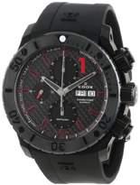 Edox Men's 01114 37N NRO Class 1 Automatic Chronograph Black PVD Rubber Strap Watch