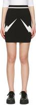 Neil Barrett Black Thunderbolt Skirt