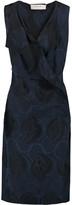 Marni Wrap-effect silk-blend jacquard dress