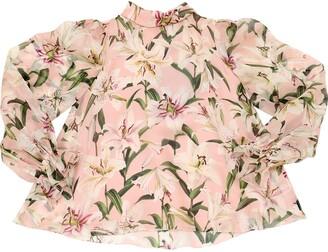 Dolce & Gabbana Liulium Printed Silk Organza Shirt