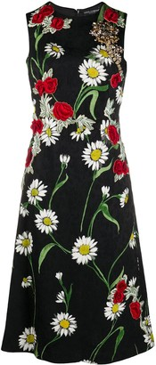 Dolce & Gabbana Pre-Owned Floral Embroidery Flared Dress