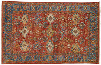 "One Kings Lane Malina Rug - Orange/Blue - 5'6""x8'6"""