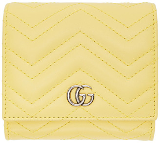 Gucci Yellow Medium GG Marmont Wallet
