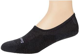 Smartwool Sneaker Cushion No Show (Charcoal) Men's No Show Socks Shoes