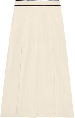 Gucci Fine Viscose Pleated Midi Skirt
