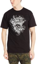 Crooks & Castles Men's Knit Crew T-Shirt Roughed Out Medusa