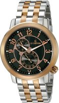 Le Château Men's 5428MAUTO_BLK Cautiva Collection See-Thru Automatic Steel Rose-Gold Watch