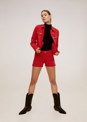 MANGO Denim cotton jacket red - XS - Women