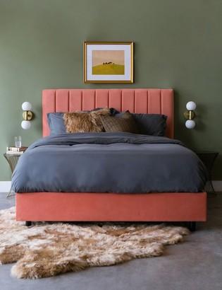 Lulu And GeorgiaLulu & Georgia Aliyah Velvet Bed, Papaya