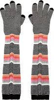 Missoni Multi-Stripe Long Gloves