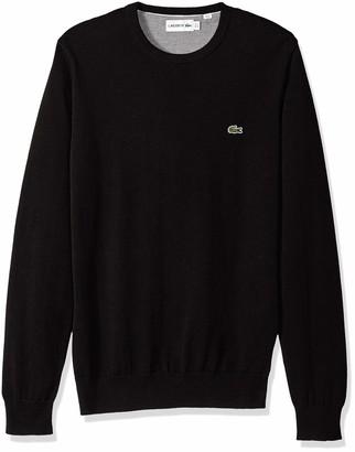 Lacoste Men's Long Sleeve Half Moon Crew Neck Jersey Sweater
