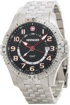 Wenger Squadron GMT Watch - 43mm, Stainless Steel Bracelet (For Men)