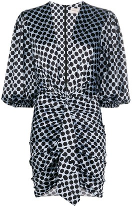 Alexandre Vauthier Silk Polka Dot Mini Dress