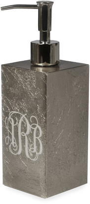 Mike and Ally Eos Monogram Box Pump, Silver