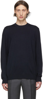 Ermenegildo Zegna Cobra S.C. Navy Wool Baruffa Sweatshirt