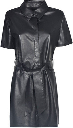 Nanushka Belted Waist Shirt Dress