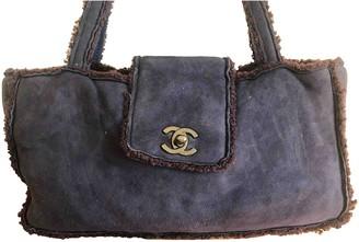 Chanel Blue Suede Handbags