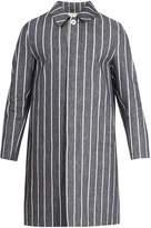 MACKINTOSH Point-collar linen overcoat