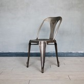 Graham and Green Isaac Iron Chair In Nickel