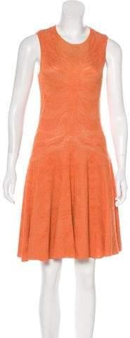 Alexander McQueen Silk-Blend Knit Dress
