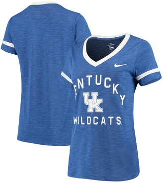 Nike Women's Royal Kentucky Wildcats Performance Cotton Slub Retro Fan V-Neck T-Shirt
