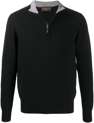 Doriani Cashmere Half-Zip Cashmere Jumper