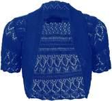 Thever Women Short Sleeve Knitted Crochet Shrug Bolero Cardigan Ladies Crop Top