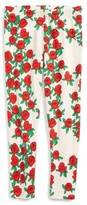 Mini Rodini Girl's Rose Print Leggings