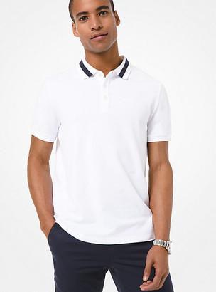 Michael Kors Contrast-Trim Stretch Cotton Polo Shirt