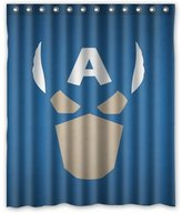 "Shower Curtains Fashionable Bathroom Collection-Custom Captain America Shower Curtain Bath Decor Curtain 60 "" x 72 """
