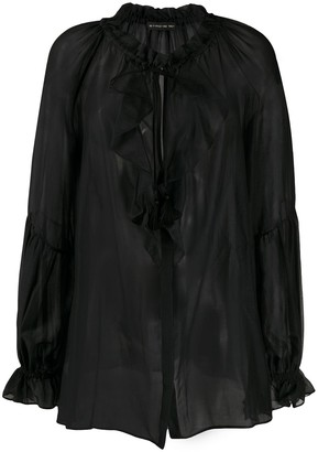 Etro Sheer Ruffled Blouse