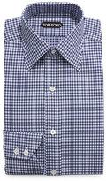 Tom Ford Optical Check Dress Shirt, Navy