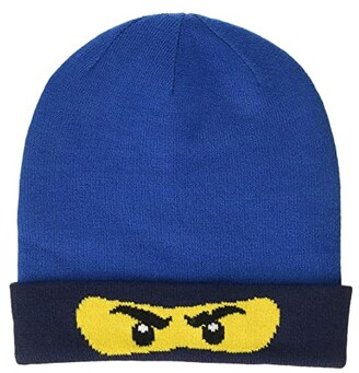 Lego Kids Snow Beanie with Ninjago Design (Little Kids/Big Kids) (Blue) Caps