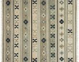 One Kings Lane Amos Flat-Weave Rug - Aqua - aqua/ink