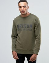 Jack and Jones Vintage Washed Crew Neck Sweatshirt with Vintage Graphic Print