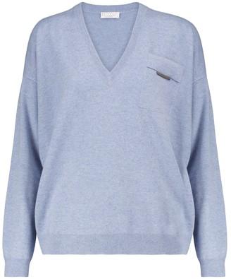 Brunello Cucinelli Embellished cashmere sweater