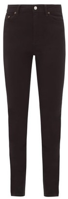Acne Studios Peg High-rise Skinny-leg Jeans - Black