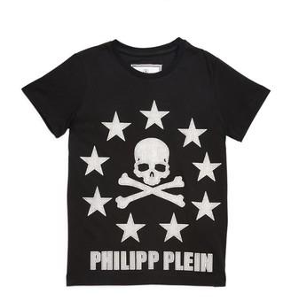 Philipp Plein Junior Stars and Skull Logo T-Shirt (4-16 Years)