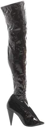 Stella Luna Black Plastic Boots