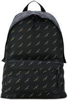 Balenciaga Black Gold Logo Nylon Explorer backpack