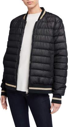 Moncler Or Channel-Quilt Bomber Jacket