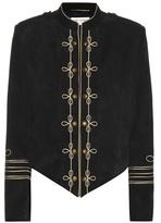 Saint Laurent Embellished suede jacket
