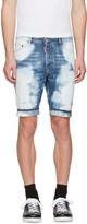 DSQUARED2 Blue Denim Glam Head Shorts