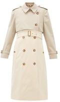 Burberry Deighton Bicolour Cotton-gabardine Trench Coat - Womens - Beige