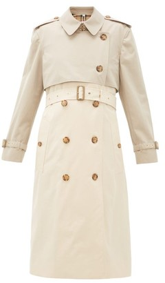 Burberry Deighton Bicolour Cotton-gabardine Trench Coat - Womens - Beige