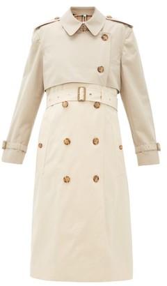 Burberry Deighton Two-tone Cotton-gabardine Trench Coat - Womens - Beige