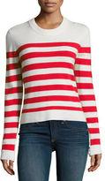 Rag & Bone Lillian Striped Cashmere Crewneck Sweater, Navy/White